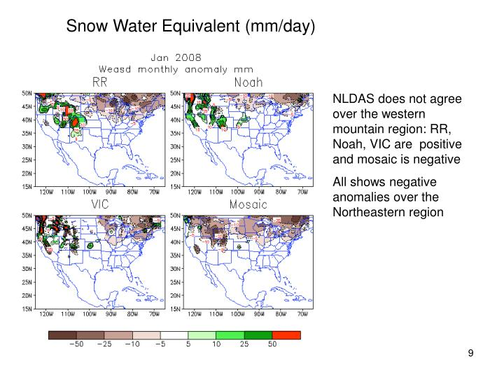 Snow Water Equivalent (mm/day)