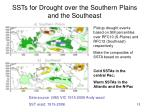 ssts for drought over the southern plains and the southeast