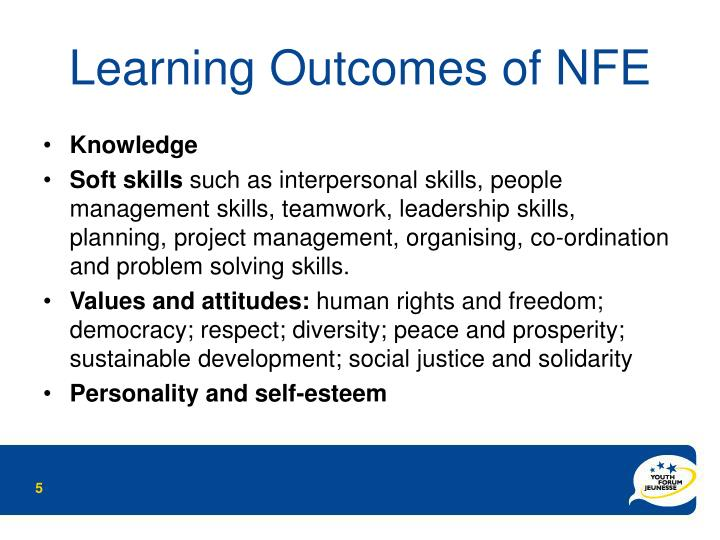 Learning Outcomes of NFE