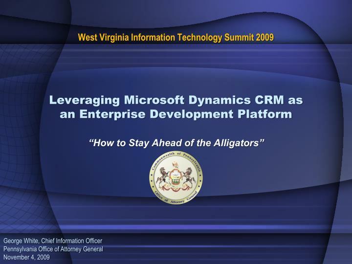 West Virginia Information Technology Summit 2009