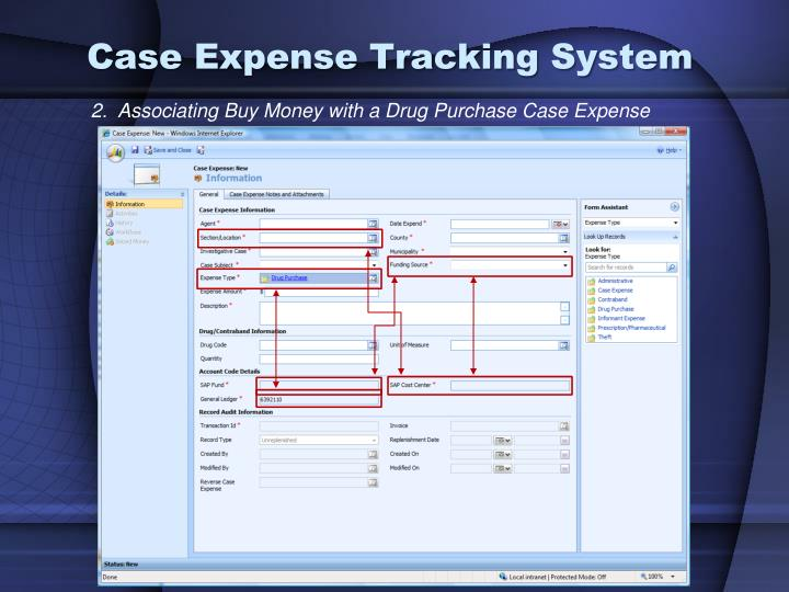 Case Expense Tracking System