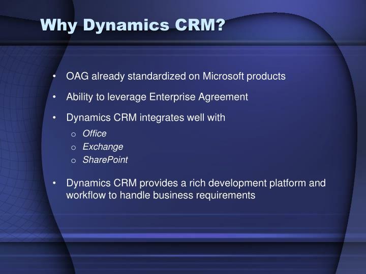 Why Dynamics CRM?
