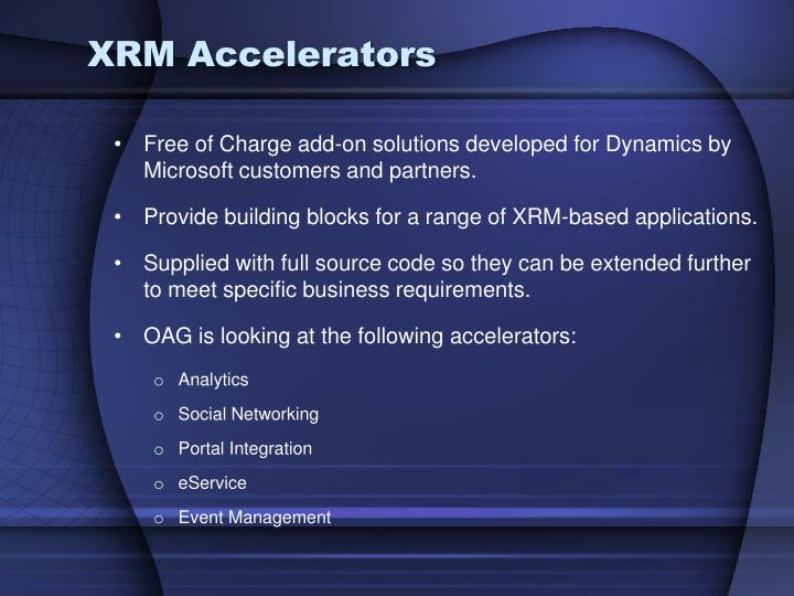 XRM Accelerators