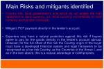 main risks and mitigants identified3