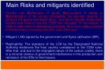 main risks and mitigants identified4