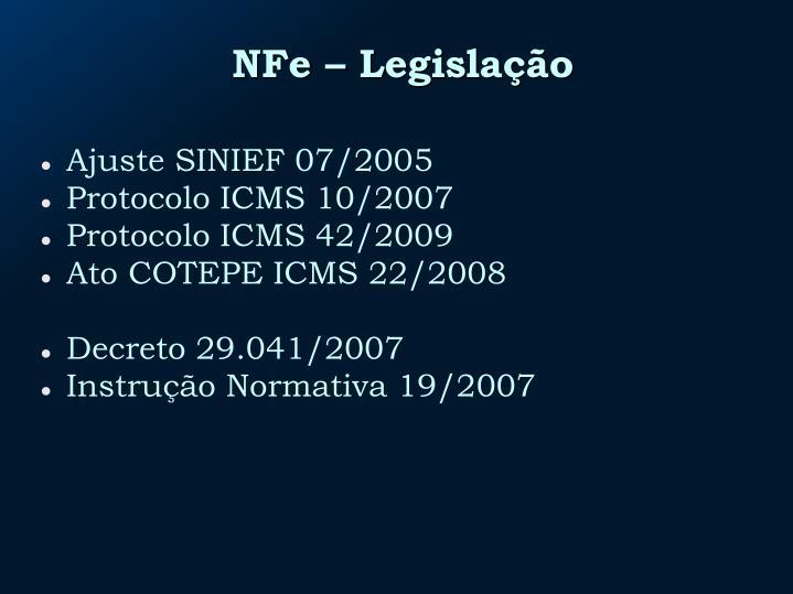 NFe – Legislação