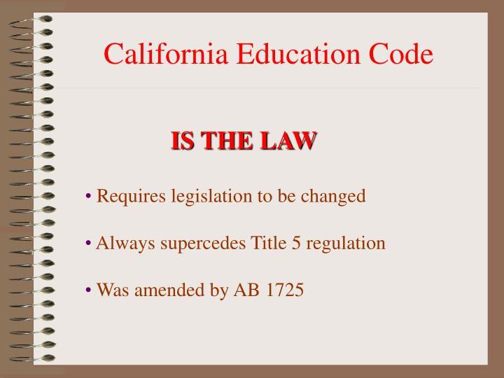 California Education Code