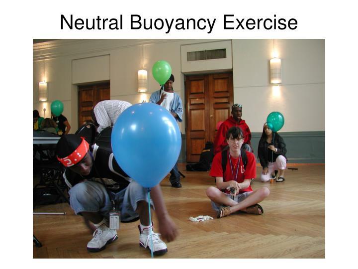 Neutral Buoyancy Exercise