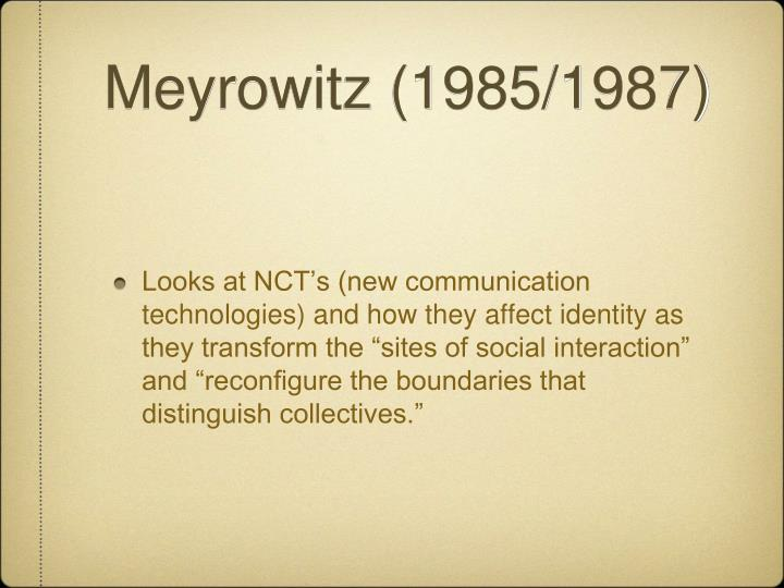 Meyrowitz (1985/1987)