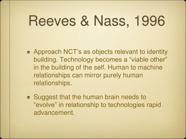 Reeves & Nass, 1996