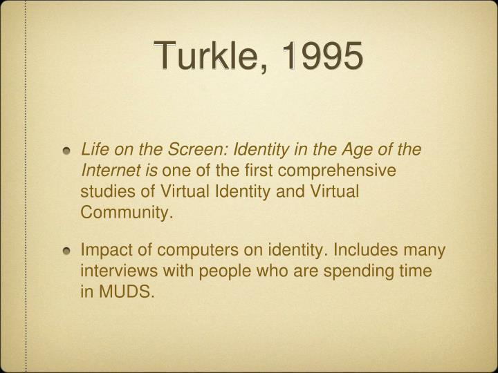 Turkle, 1995