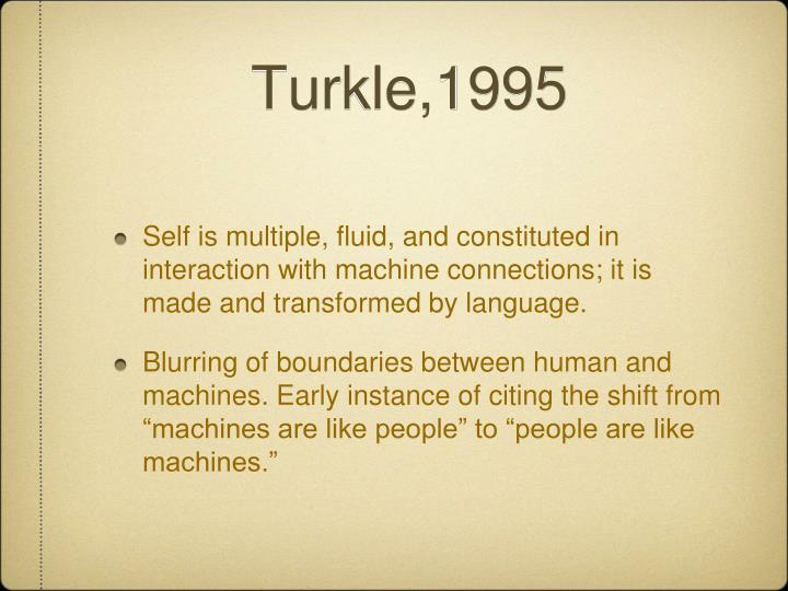 Turkle,1995