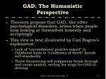 gad the humanistic perspective