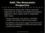 gad the humanistic perspective1