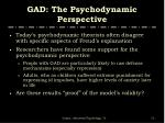 gad the psychodynamic perspective1