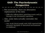 gad the psychodynamic perspective2
