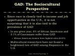 gad the sociocultural perspective1