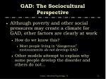 gad the sociocultural perspective2