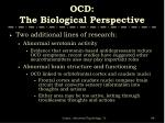ocd the biological perspective1