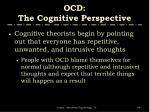ocd the cognitive perspective