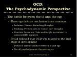 ocd the psychodynamic perspective1