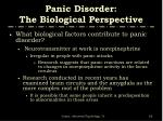 panic disorder the biological perspective1