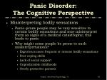 panic disorder the cognitive perspective1