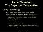 panic disorder the cognitive perspective4