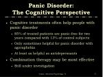 panic disorder the cognitive perspective5