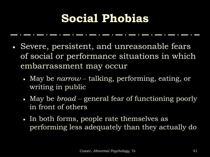 Social Phobias