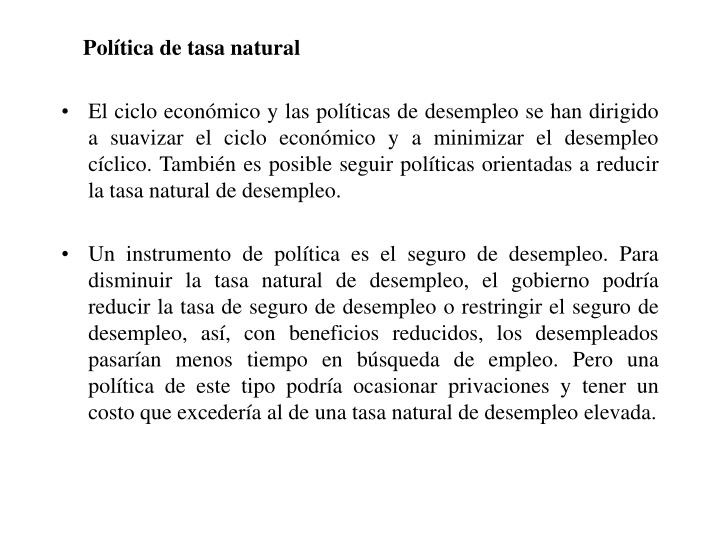 Política de tasa natural