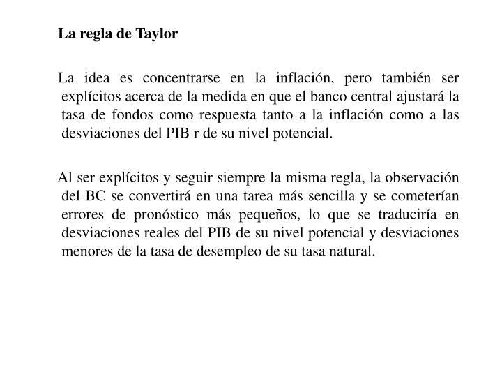 La regla de Taylor