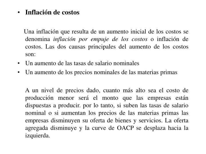 Inflación de costos