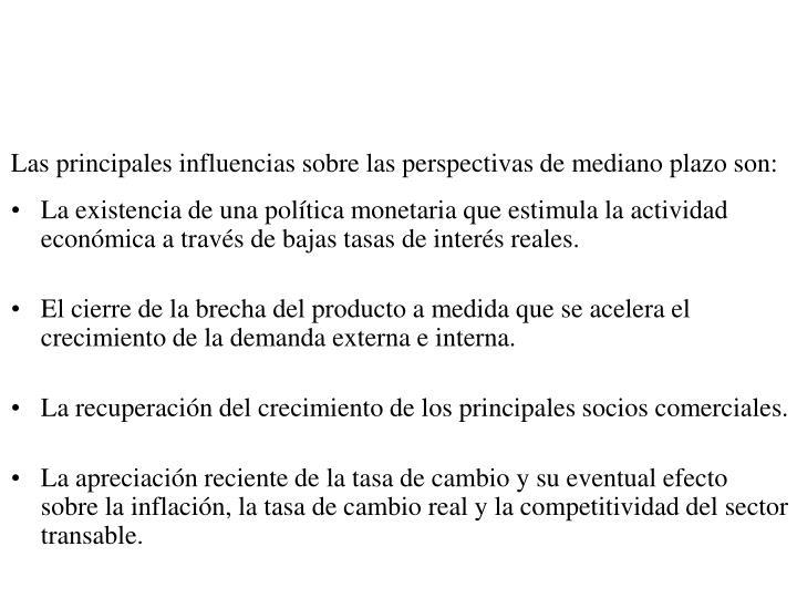 La sección anterior provee el punto de partida para evaluar las perspectivas a uno y dos años de la economía colombiana.