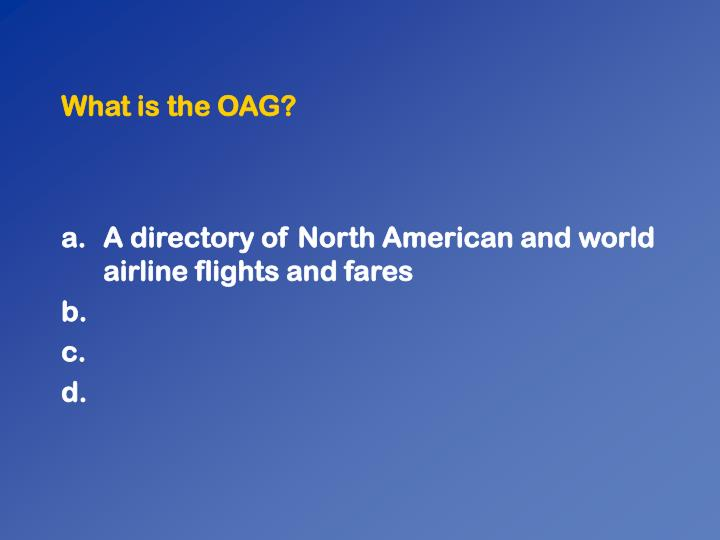 What is the oag1