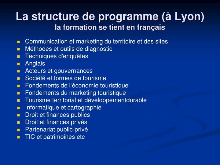 La structure de programme