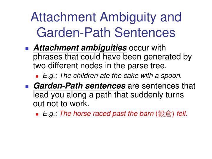 Attachment Ambiguity and Garden-Path Sentences