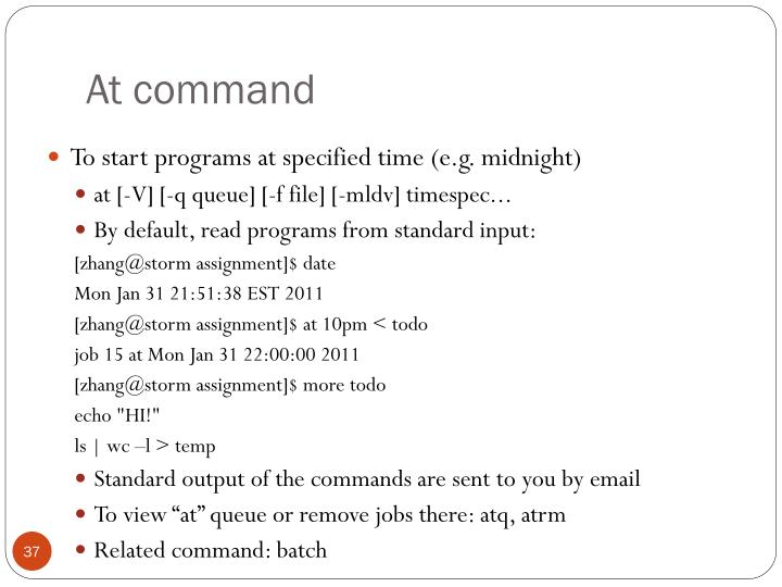 At command