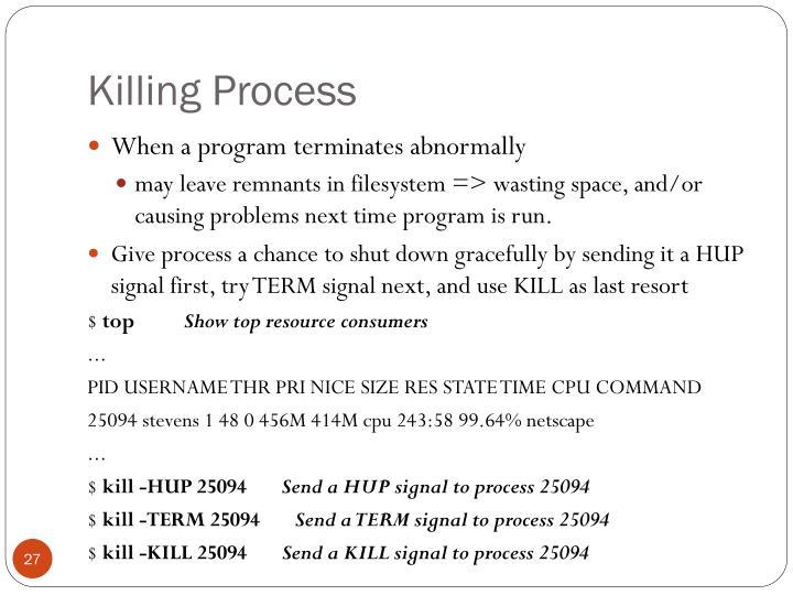 Killing Process