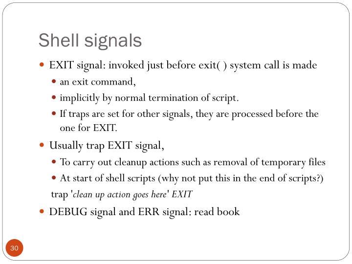 Shell signals