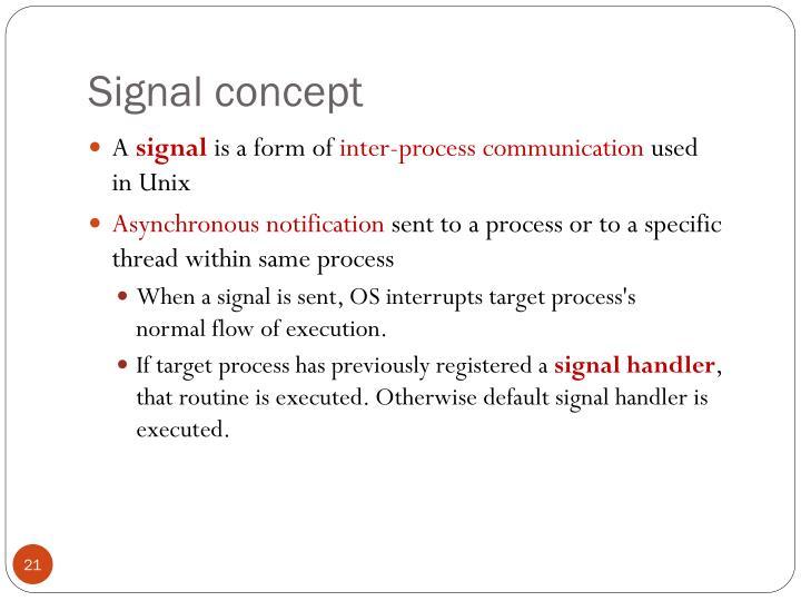Signal concept