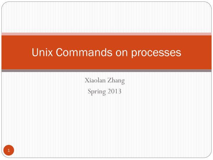 Unix Commands on processes