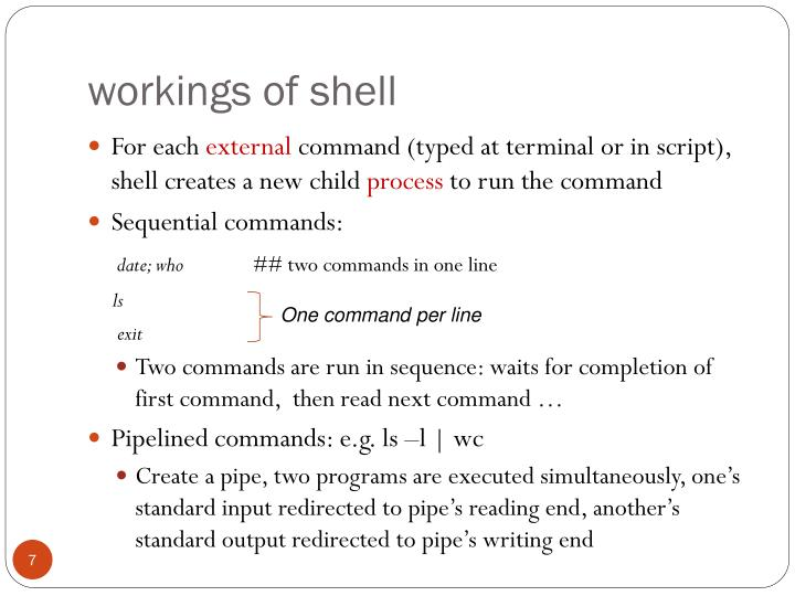workings of shell