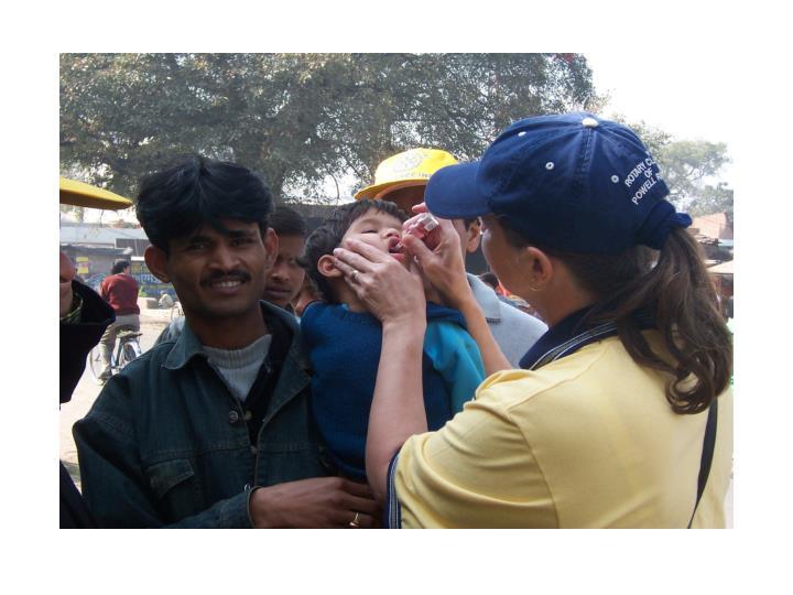 Giving Polio drops