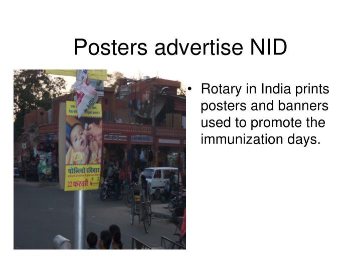 Posters advertise NID