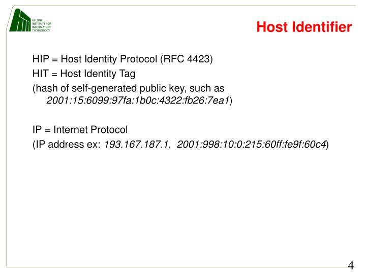 Host Identifier