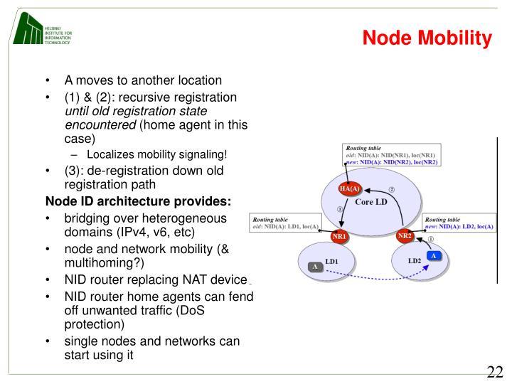 Node Mobility