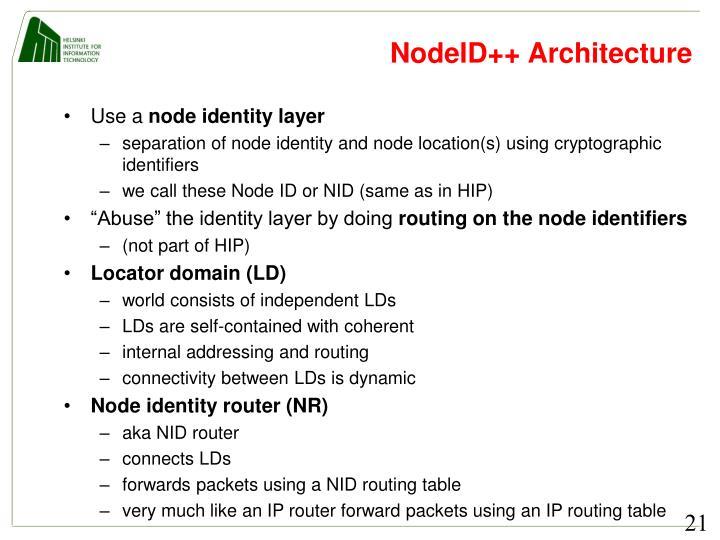 NodeID++ Architecture