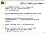 solution and implementation