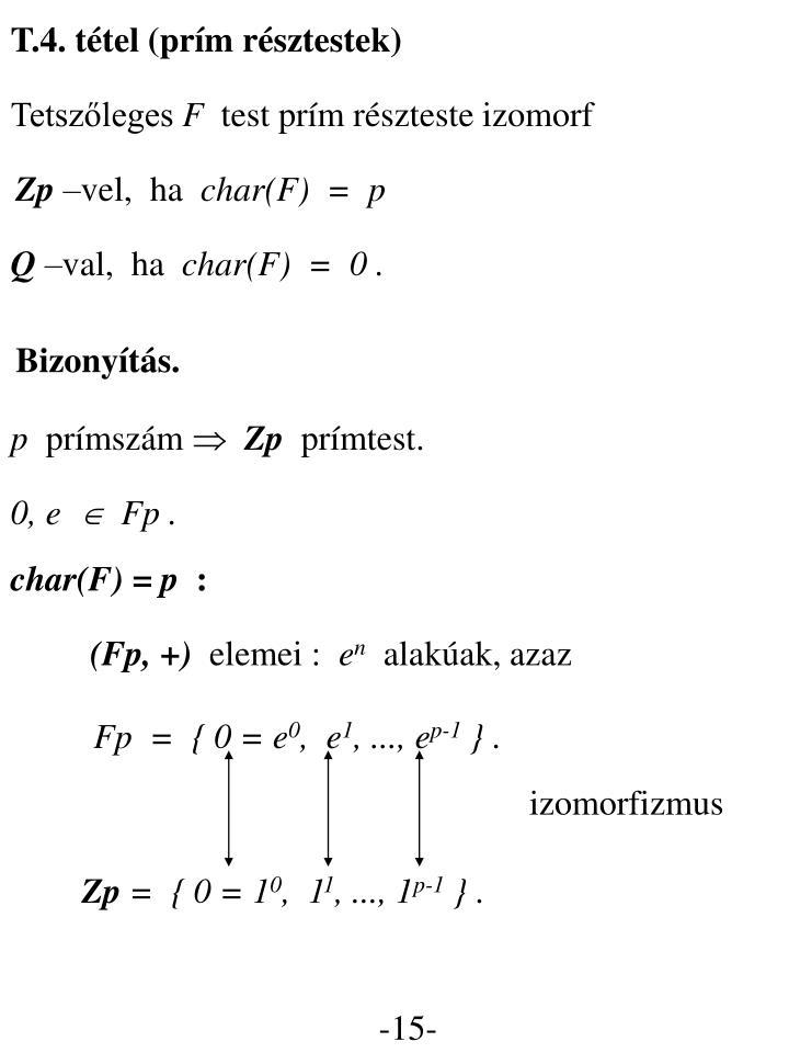 T.4. tétel (prím résztestek)